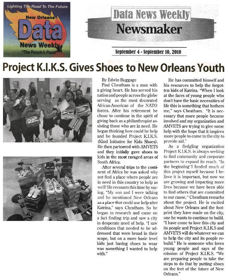 Project KIKS Gives Shoes to New Orleans Youth
