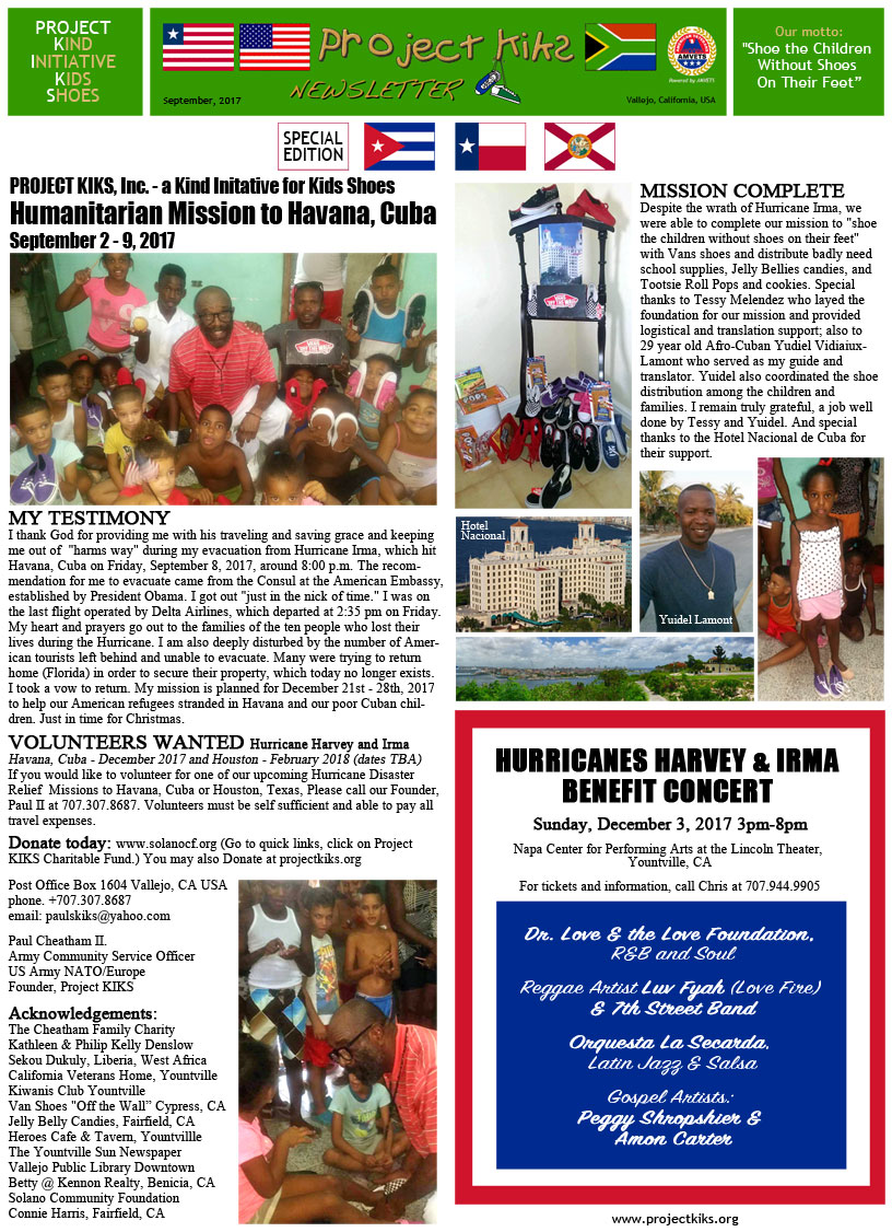 Newsletter September 2017 page 1